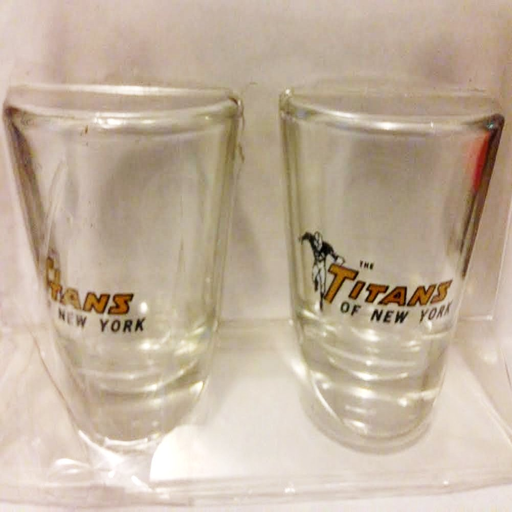 Authentic Vintage Boelter Brands NFL Titans of New York 2oz. Collectible Shot Glasses