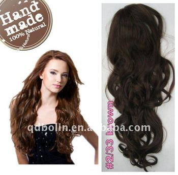 Hot sale long curl brown ponytail indian human hair extension clip hot sale long curl brown ponytail indian human hair extension clip on pony pmusecretfo Choice Image