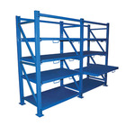 Stainless Steel Metal Warehouse Racks Drawer Shelves for Mould Storage