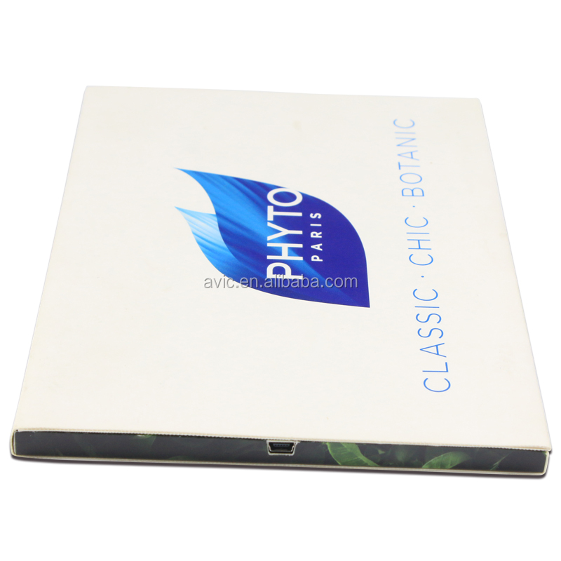 10.1 inch LCD screen video brochure video catalog in A4 paper size for product launch