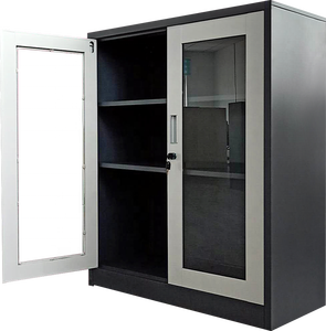 36e0ba19d3a7 Glass door small fire storage cabinets self assemble office cabinet