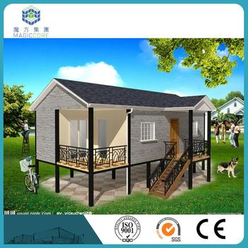 modern prefab light steel villa fast-built customized easy to install prefabricated villa