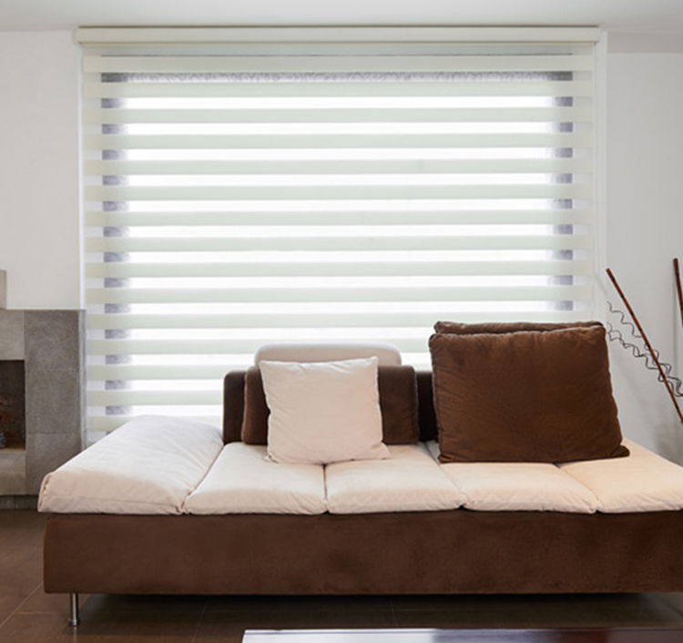 Living room window decorate blind motorized roller zebra blinds