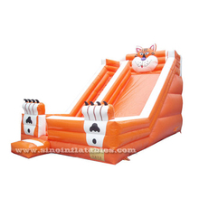 9 mts long orange tiger big inflatable slide for kids from Sino inflatable factory