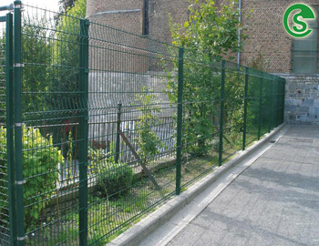Galvanized Steel Wire Fencing Panels See Through Welded Mesh Fence For Courtyard