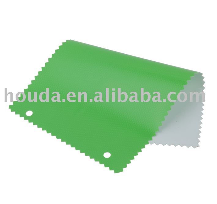 green & white 250D pvc coated tarpaulin fabric for apron and bags