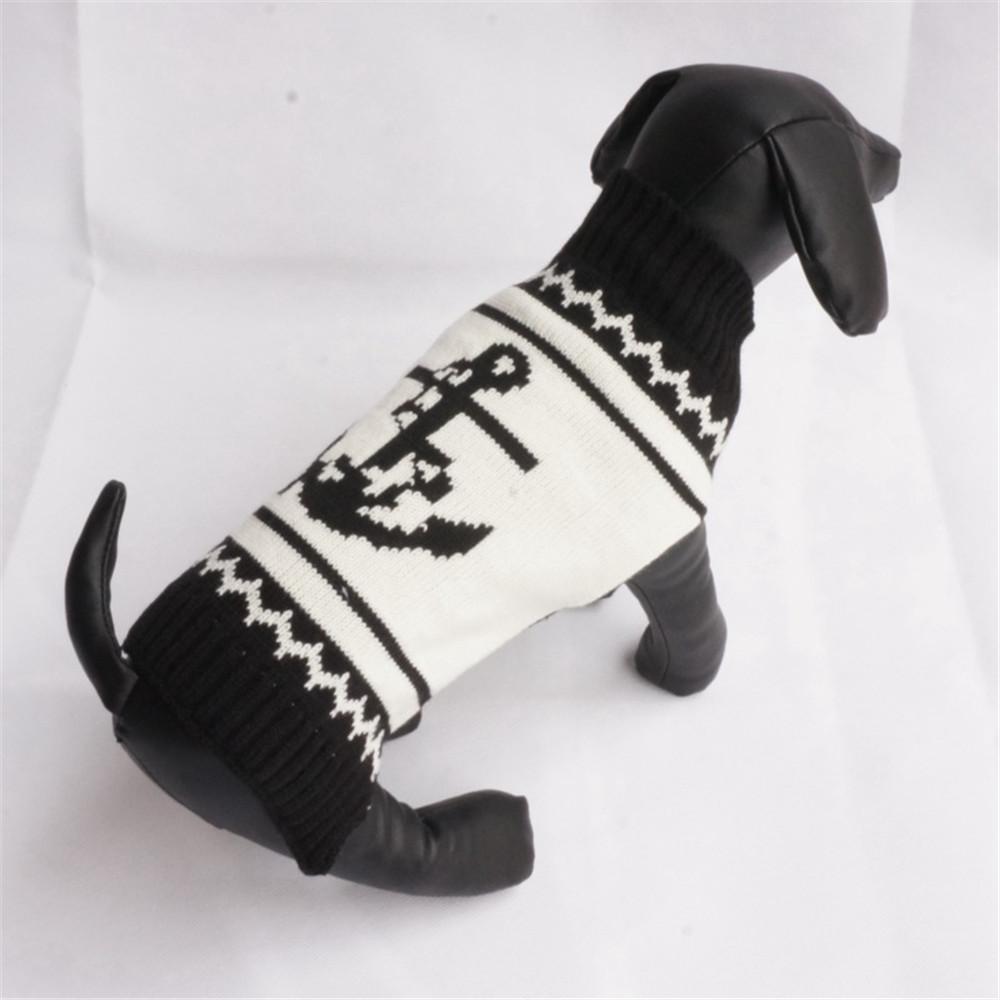 Ancla marinero blanco PET suéteres medio puente caliente perro ropa ...