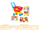Children's Simulation Shopping Cart Play house toys Girl hand pushing fruit car Set