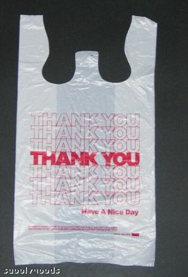 Thank You T Shirt Plastic Bags
