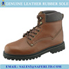 Genuine leather goodyear welted industrial safety boots