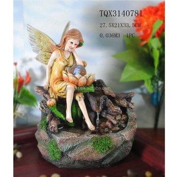 Indoor Tabletop Fountain Pretty Fairy Fountain With Led Light - Buy ...