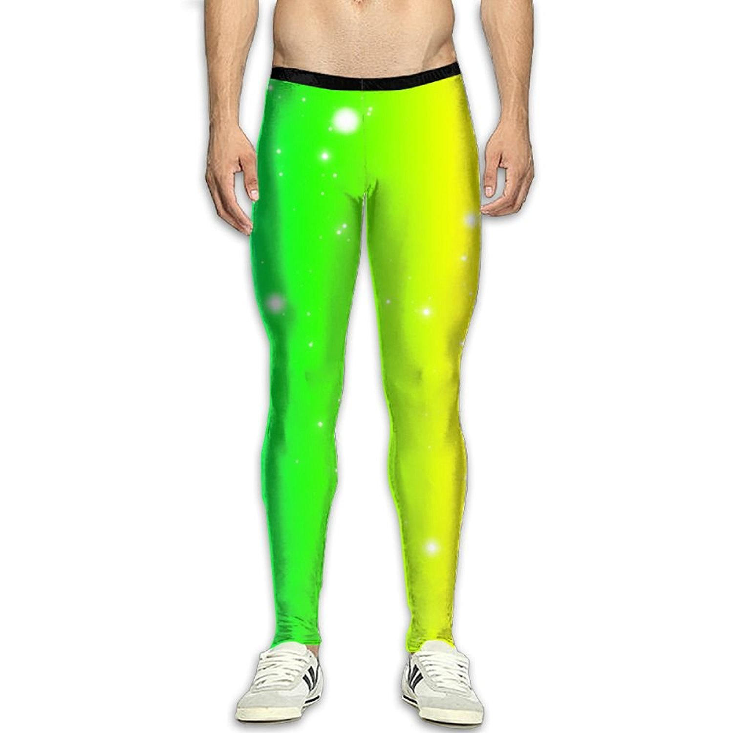 09208b48936aa2 Get Quotations · Virgo Rainbow colorful Skins Compression Pants/Running  Tights Baselayer Mens Winter Pants Male Tall