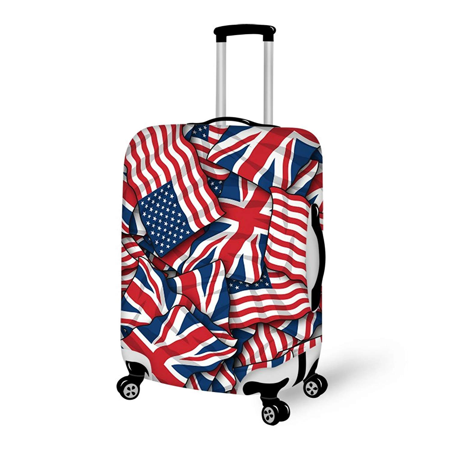 Luggage Protective Covers with UK British Flag Washable Travel Luggage Cover 18-32 Inch
