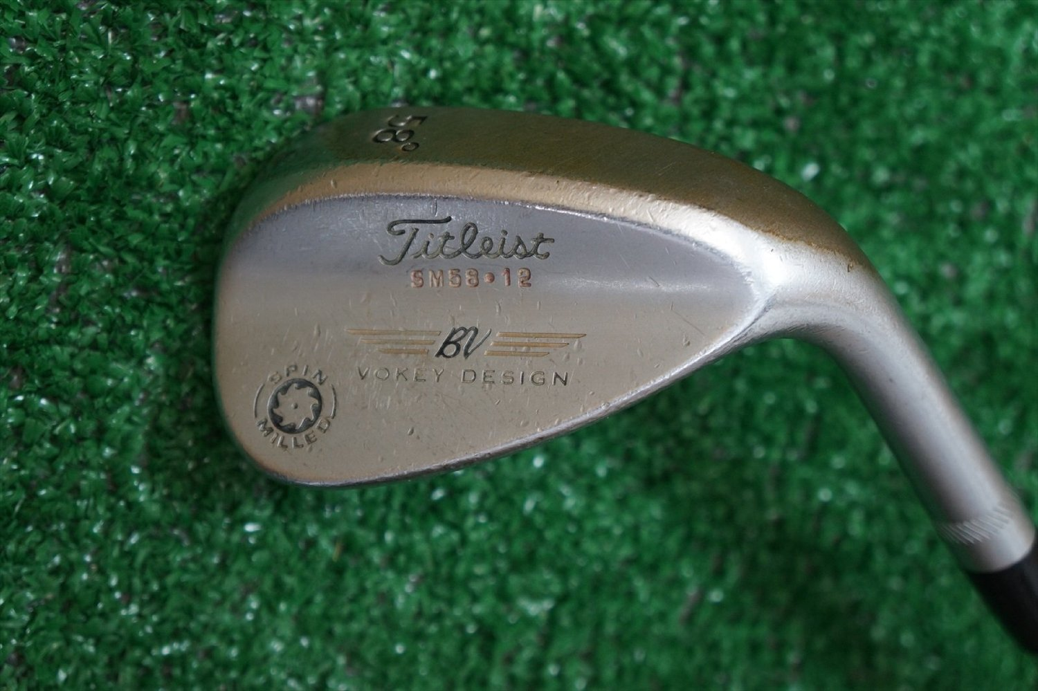 Titleist Vokey Design Spin Milled Right-Handed Wedge Steel 58°