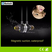 New Bluetooth 4.0 stereo Headphone with stereo sound noise reduction magnetic bluetooth earphone for iPhone 6
