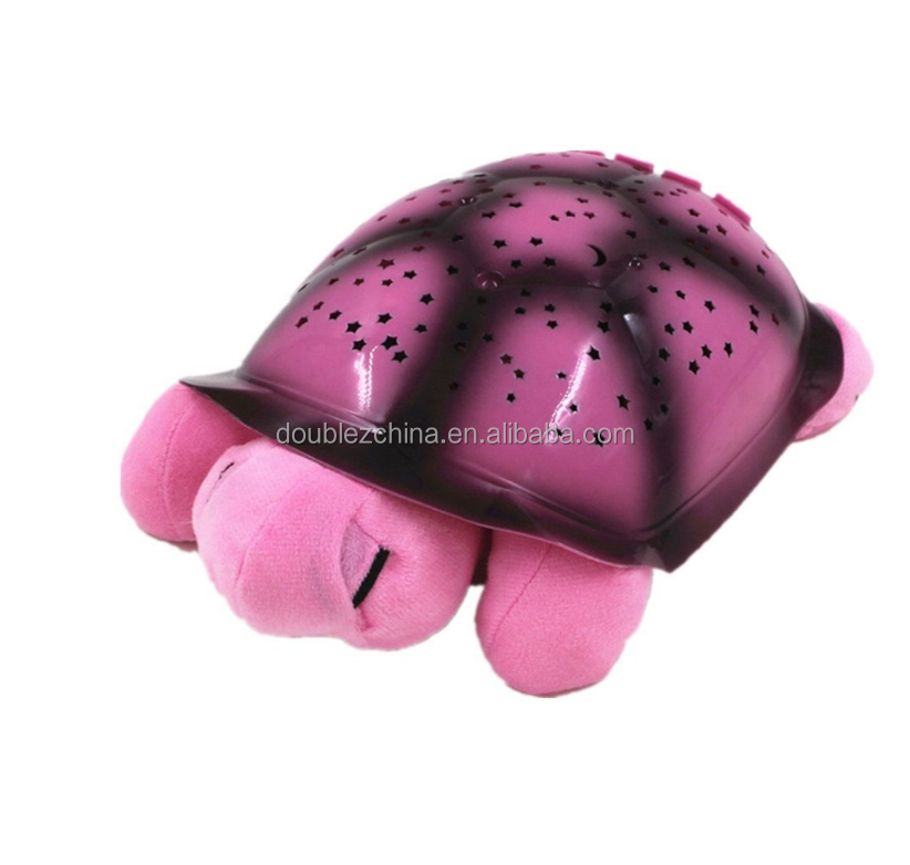 Turtle Star Projection Lamp Night Light,for Children's Sleeping Toy Pink