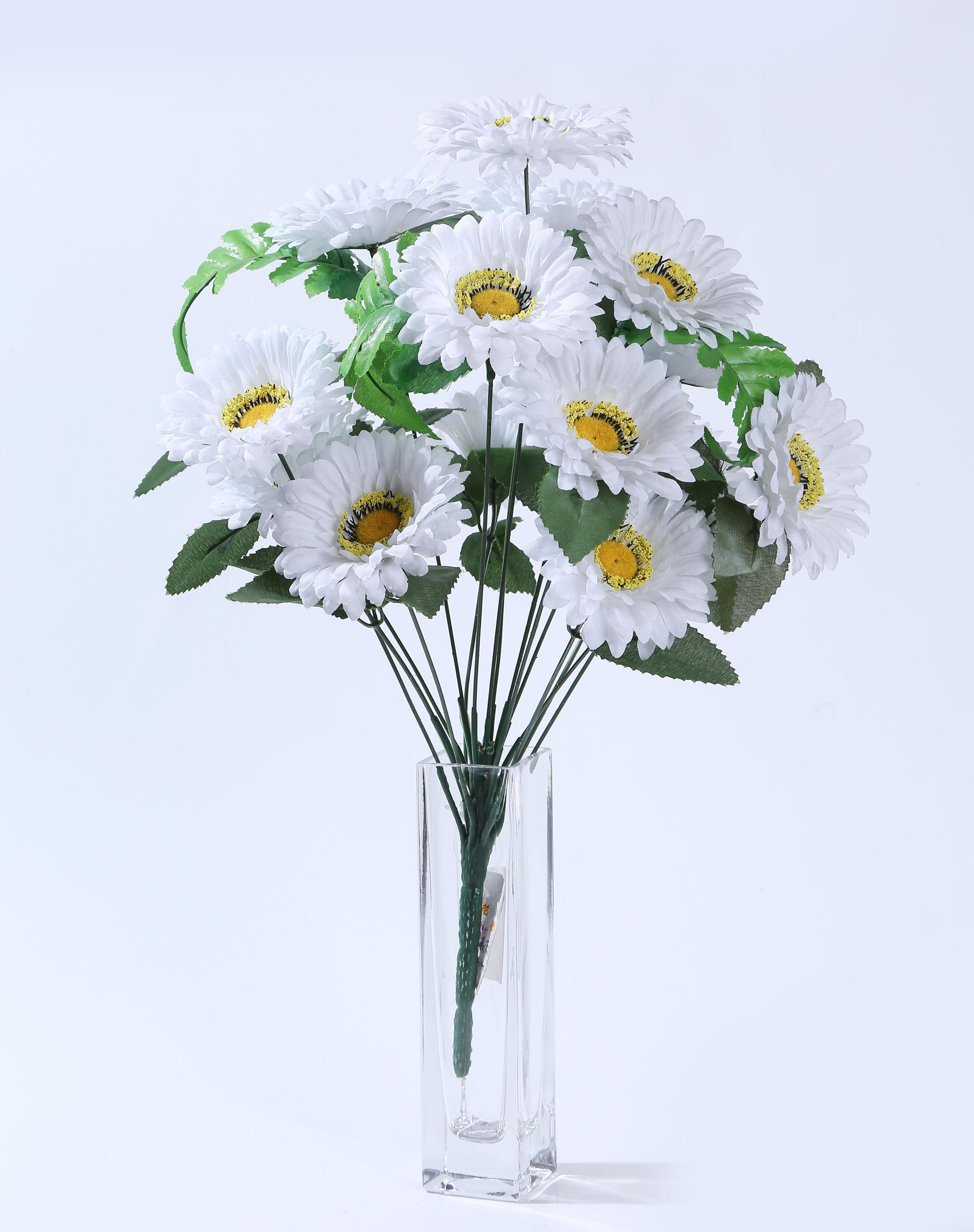 Best price high quality artificial flowers 16 heads artificial best price high quality artificial flowers 16 heads artificial daisy flowers for funeral decoration dhlflorist Gallery