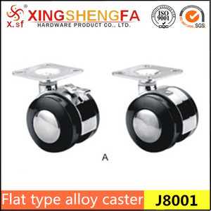 furniture flat type alloy casters and wheels 45mm furniture casters wheels
