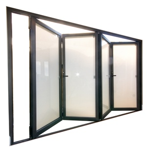 Best selling products folding glass bathroom door glassing commercial accordion folding doors