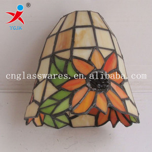 sunflower design glass ceiling light covers, glass lamp shades