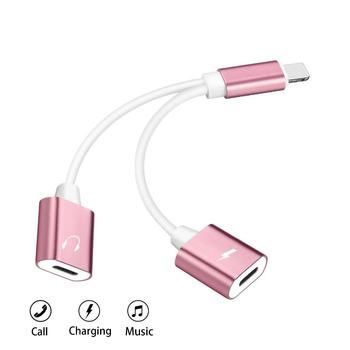 China 2 en 1 cargador adaptador de audio para auriculares de