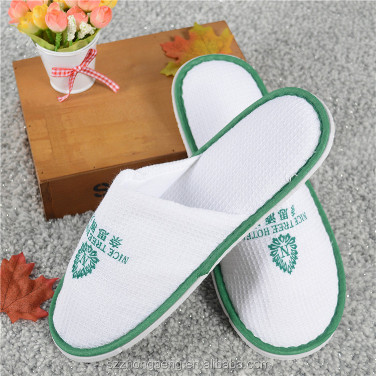 disposable 100% cotton velour velvet hotel slippers