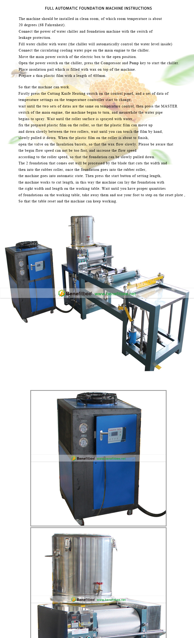 Fully Automatic Beeswax Foundation Embossing Machine beeswax honeycomb machine