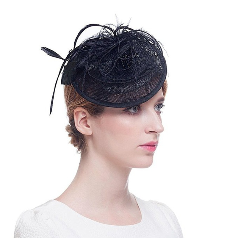 B40075A Fashion ladies fascinator wedding and party hats