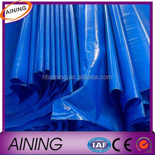 Blue PE Woven Laminated Tarpaulin with Mildewproof rotproof and tear Resistant