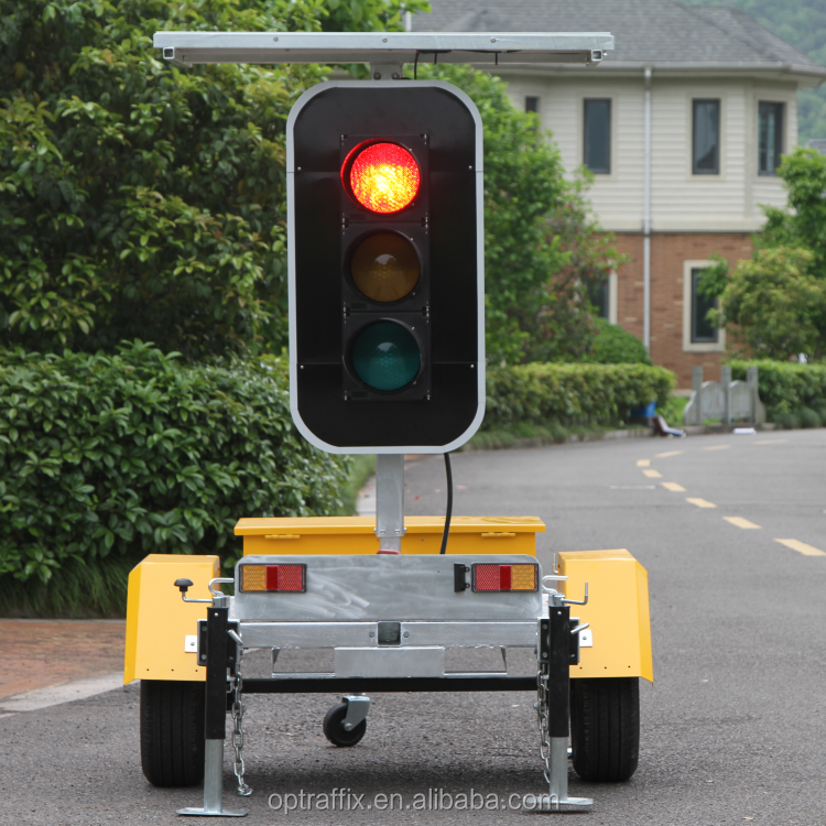 Odm Solar Powered Mobile Led Road Work Stop Signs Yellow Green Red ...