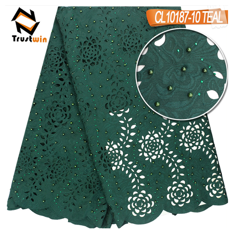 high quality wholesale price laser cut flower embroidery design fabric for wedding