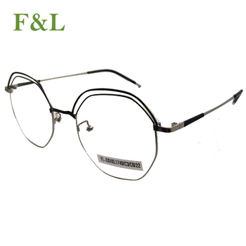 9a7194cf75e02 Small round glasses unisex gold round metal frame glasses frame optical  black