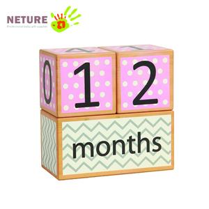 Premium Solid Wood Milestone Age Blocks Baby Age Photo Blocks Perfect Baby gift