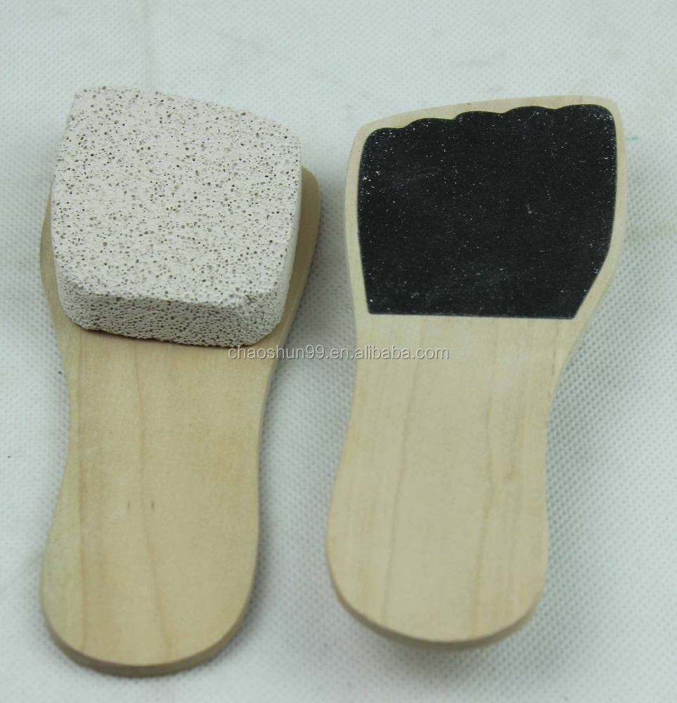 Wooden small custom paddle pedicure brush
