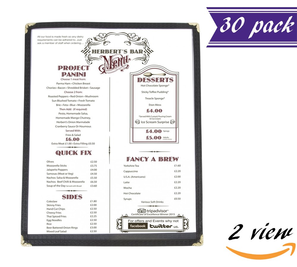 jr sales corp val a814 burgundy 25 pack of menu covers single