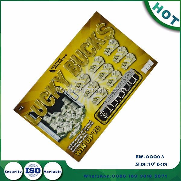 lucky draw coupon lottery tickets printing service