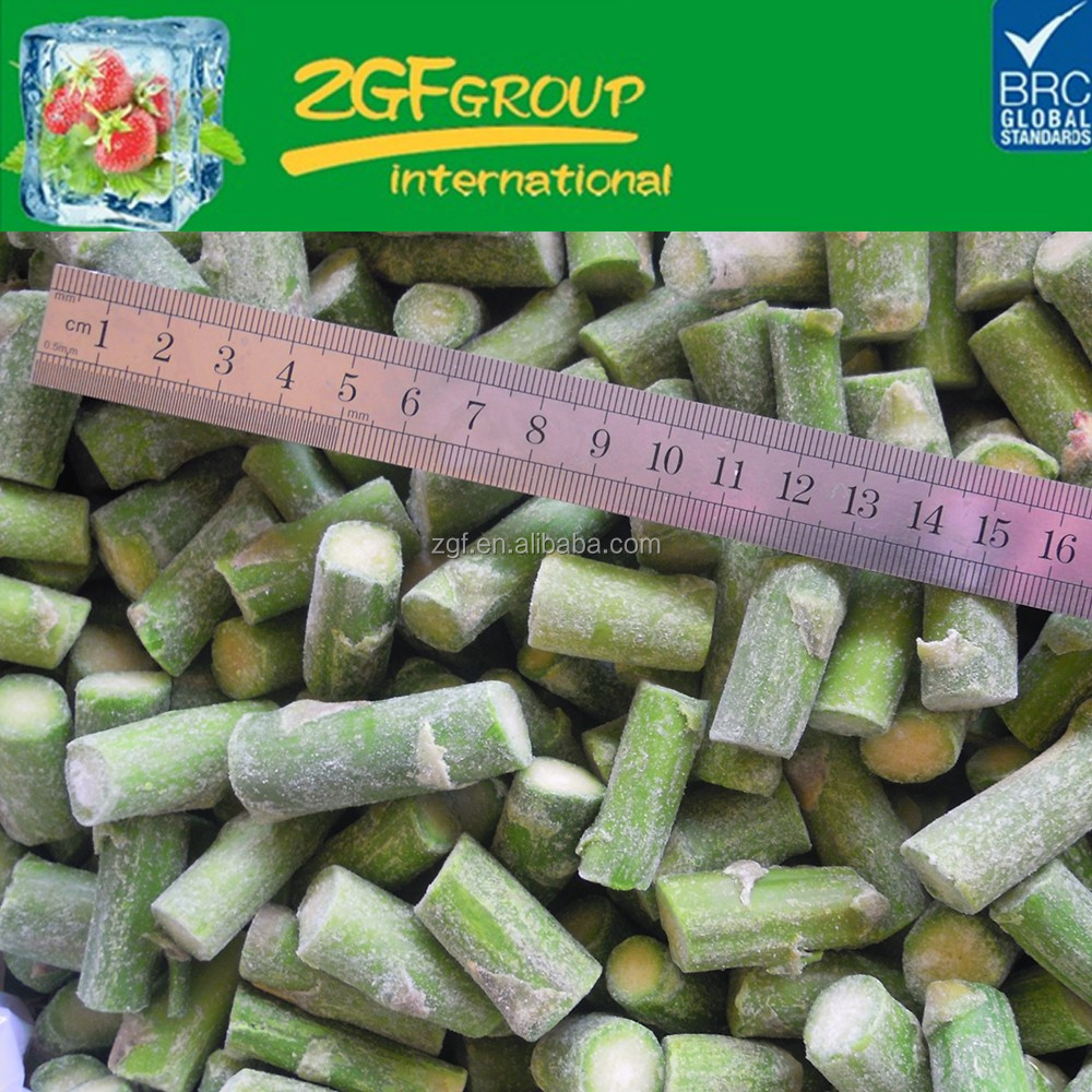 Cheap iqf green asparagus tips and cuts for wholesale