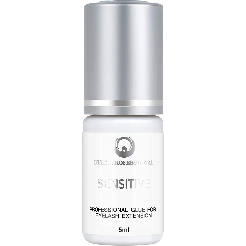 4967bf1f988 Get Quotations · DLUX PROFESSIONAL SENSITIVE Eyelash Extension Glue(5ml)  Black Adhesive/Eyelash glue/The