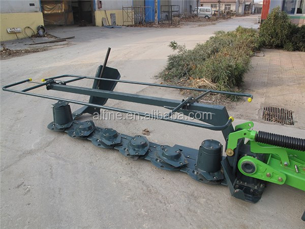 High efficiency easy operation twin disc grass mower