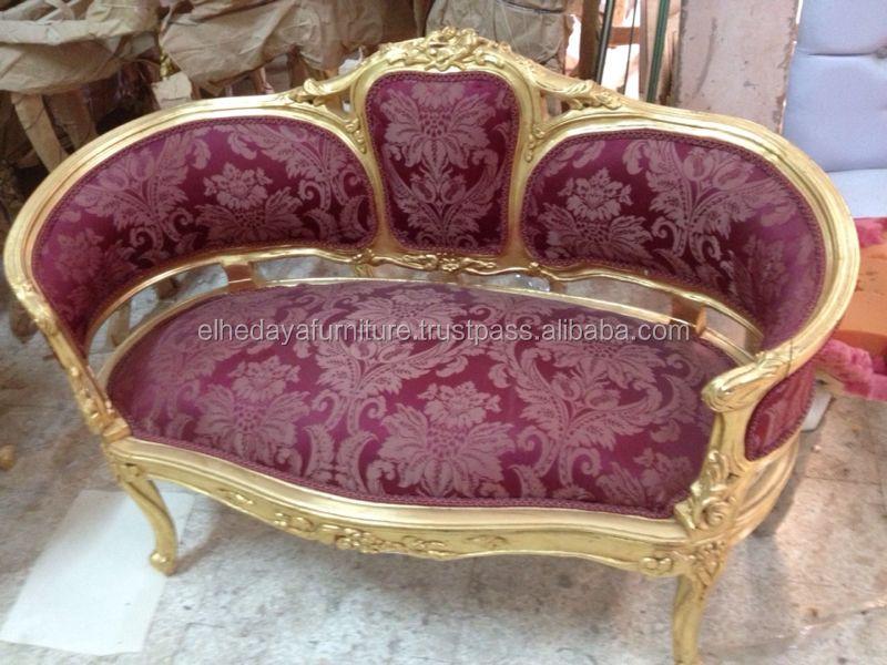 Rouge antique fran ais canap canap salon id de produit for Salon egyptien