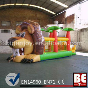 Inflatable Lion Inflatable Bouncer House For Kids Party