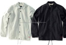 New Custom made High quality Custom Coach Jackets, custom leather bomber jacket white/black