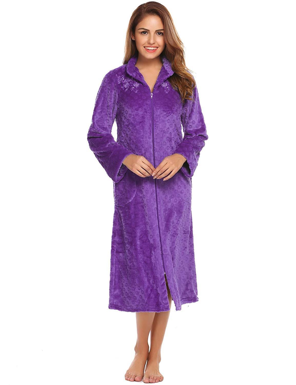 Fanala Womens Stand Collar Robe 47079bf78