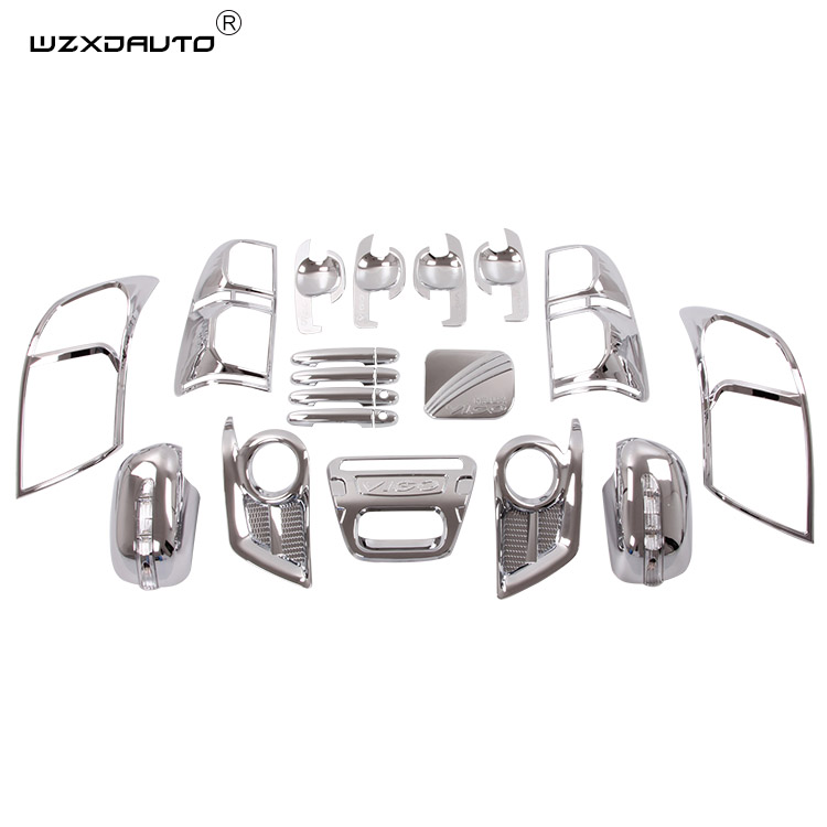 22 stks hoge kwaliteit Fit HILUX/VIGO HILUX VIGO 2012 body kit ABS CHROME Auto body Kits accessoires auto