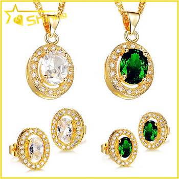 New Design Top Quality Fashion 18k Dubai Gold Plated Jewelry Set