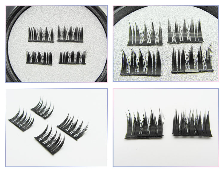 mink fur 3d synthetic magnetic eyelashes
