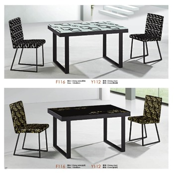 f55ed7b1302 Metal Base Oval-shaped Glass Dining Table Factory Sell Directly Yy14 ...