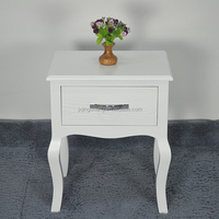 romantic french style antique white single drawer bedside tables , sofa corner table amazon