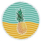 wholesale round beach towels pineapple print