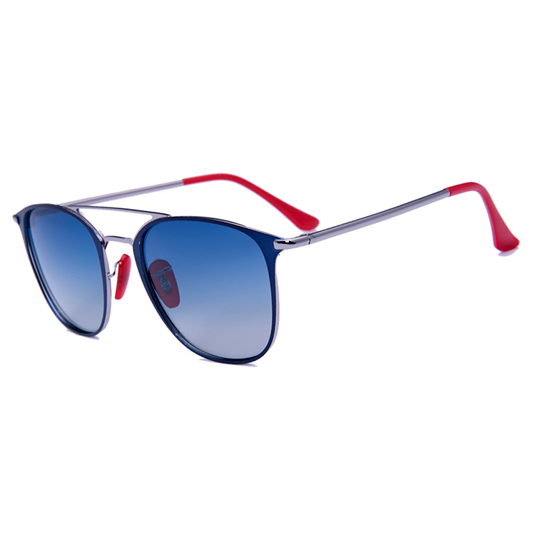 Two Color Plating Metal Frame Acetate Tips Sun Glasses Fashion Sunglasses 2019 For Women, N/a